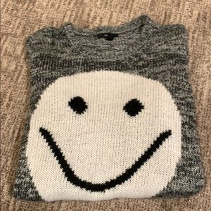 Forever 21 Smiley Face Sweater Sz L